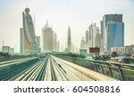 dubai skyline and downtown... | Shutterstock . vector #604508816