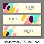 set of banner templates. bright ... | Shutterstock .eps vector #604512266