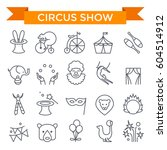 circus show icons  thin line ... | Shutterstock .eps vector #604514912