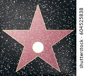 walk of fame star.  | Shutterstock .eps vector #604525838
