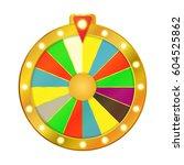 wheel fortune isolated on white ... | Shutterstock .eps vector #604525862
