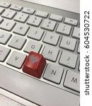 keyboard with heart key | Shutterstock . vector #604530722