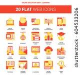 vector set of online education... | Shutterstock .eps vector #604533206