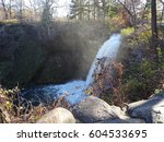fall in at the waterfalls in... | Shutterstock . vector #604533695