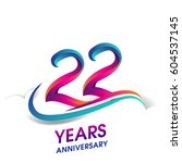twenty two years anniversary... | Shutterstock .eps vector #604537145