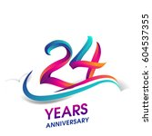 twenty four years anniversary... | Shutterstock .eps vector #604537355