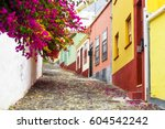 colorful and street with... | Shutterstock . vector #604542242