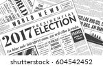 french presidential election... | Shutterstock .eps vector #604542452