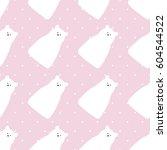 polar bear design seamless... | Shutterstock .eps vector #604544522