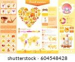 summer beach travel icon set... | Shutterstock .eps vector #604548428