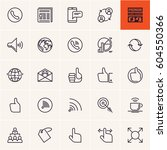 web icons set  communication... | Shutterstock .eps vector #604550366