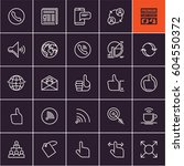 communication line icons on... | Shutterstock .eps vector #604550372
