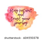 motivating quote on the... | Shutterstock . vector #604550378