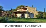 pienza  italy   oct 08  2012 ... | Shutterstock . vector #604550405