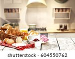 breakfast time  | Shutterstock . vector #604550762