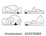 amusement park roller coaster... | Shutterstock .eps vector #604550885