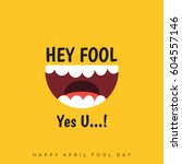 april fools day lettering... | Shutterstock .eps vector #604557146