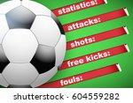 background of football soccer... | Shutterstock .eps vector #604559282