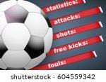 background of football soccer... | Shutterstock .eps vector #604559342