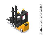 vector isometric forklift icon  | Shutterstock .eps vector #604569308