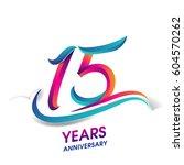 fifteen years anniversary... | Shutterstock .eps vector #604570262