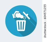 food trash icon | Shutterstock .eps vector #604571255