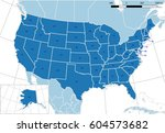 united states map. detailed... | Shutterstock .eps vector #604573682