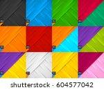 set of creative abstract design ... | Shutterstock .eps vector #604577042