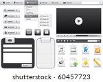 website elements for web... | Shutterstock .eps vector #60457723