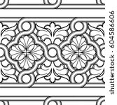 elegance seamless pattern with... | Shutterstock .eps vector #604586606