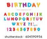 balloon colorful font. funny...   Shutterstock .eps vector #604590956