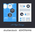 front and back corporate... | Shutterstock .eps vector #604596446