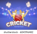 cricket event poster background ... | Shutterstock .eps vector #604596482