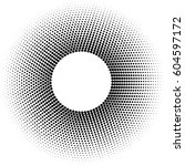 black  circle frame halftone...   Shutterstock .eps vector #604597172