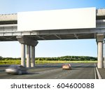 blank highway billboards on... | Shutterstock . vector #604600088