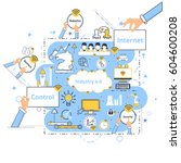 industry 4.0 concept business... | Shutterstock .eps vector #604600208
