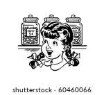 girl in candy store   retro... | Shutterstock .eps vector #60460066