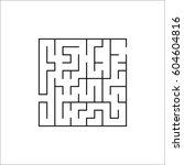 labyrinth  maze   vector... | Shutterstock .eps vector #604604816