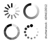 set loading icons. white... | Shutterstock .eps vector #604613012