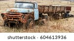 The Old Rusty Truck Overgrown...