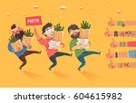 "happy millennials with ""party""... 