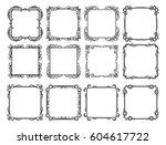 decorative vintage graphic... | Shutterstock .eps vector #604617722