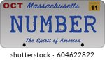 massachusetts car registration... | Shutterstock .eps vector #604622822