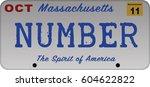 massachusetts car registration... | Shutterstock .eps vector #604622822