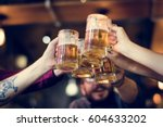 craft beer booze brew alcohol...   Shutterstock . vector #604633202