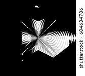 random monochrome glitchy ... | Shutterstock . vector #604634786