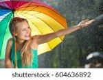 Girl With Rainbow Umbrella...