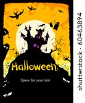 vector illustration halloween... | Shutterstock .eps vector #60463894