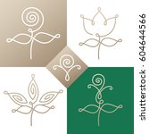 vector set of logo elements  ... | Shutterstock .eps vector #604644566