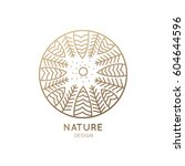 vector logo of nature on white... | Shutterstock .eps vector #604644596